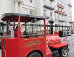 A Red Ripley's Sightseeing Train