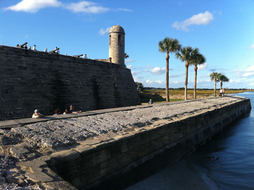 the Castillo de San Marcos national monument