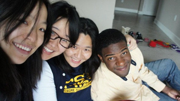 Aaron with His Chinese Friends in Atlanta